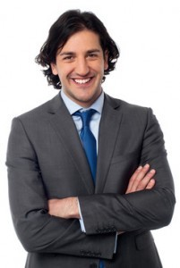 Smart male business professional