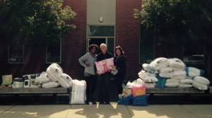 South Shore Women's Resource Center before loading up some of Drive proceeds