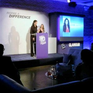 Angie Harmon of Law & Order/Rizzoli & Isles receiving award for work she does with UNICEF