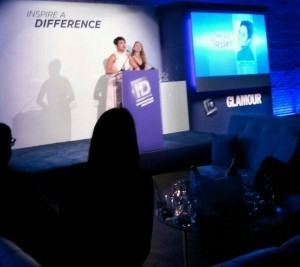 Grace Gealey of Empire series on Fox, receiving award for work she does with Saving Our Daughters
